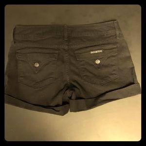 Hudson black jean shorts size 29/double button top